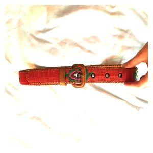 Mexican Leather and embroidered belt